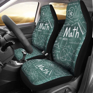 Proud Math Teacher Car Seat Covers 100421 Universal Fit - CarInspirations