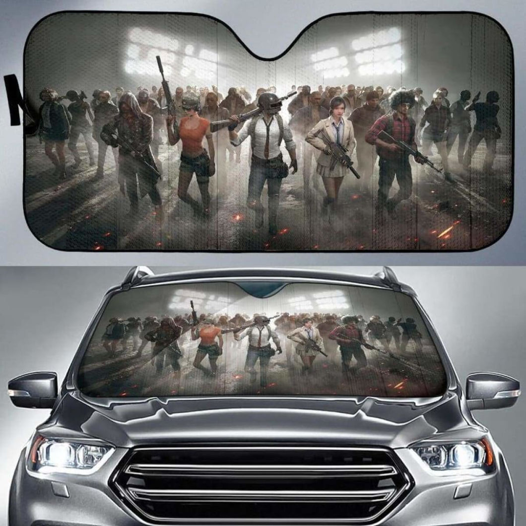 PUBG Car Sun Shades 1 918b Universal Fit - CarInspirations