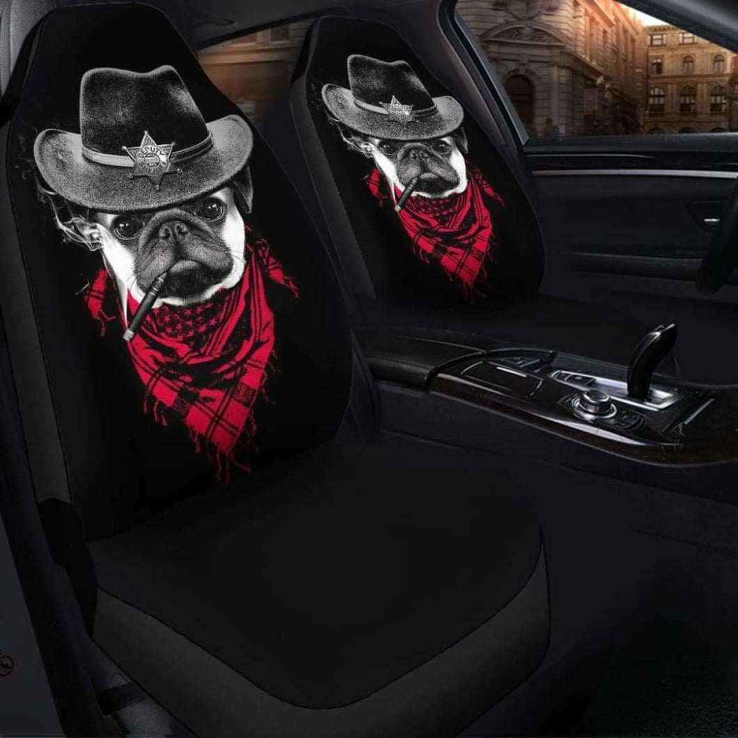 Pugdog Funny Seat Covers 101719 Universal Fit - CarInspirations