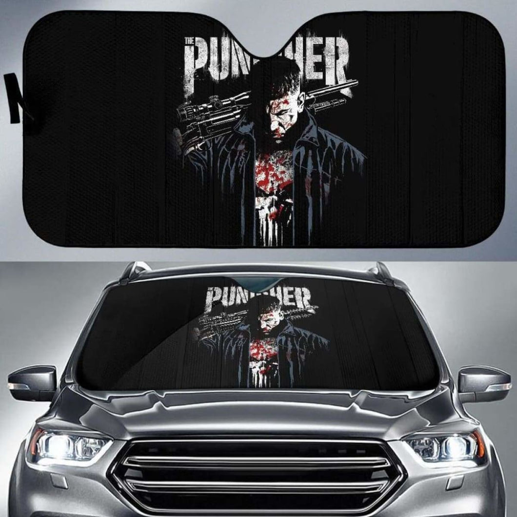 Punisher Car Auto Sun Shade 211626 Universal Fit - CarInspirations