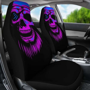 Purple Skull Screaming Car Seat Covers (Set Of 2) Universal Fit 051012 - CarInspirations