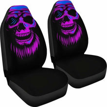 Load image into Gallery viewer, Purple Skull Screaming Car Seat Covers (Set Of 2) Universal Fit 051012 - CarInspirations