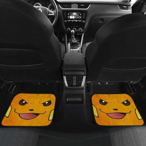 Raichu Pokemon Angry Face Car Floor Mats Universal Fit 051012 - CarInspirations