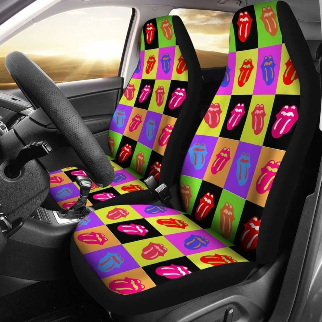 Rainbow Tongue - Car Seat Covers (Set of 2) Universal Fit - CarInspirations