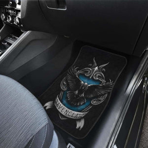 Ravenclaw 3D Logo In Black Theme Car Floor Mats Universal Fit 051012 - CarInspirations