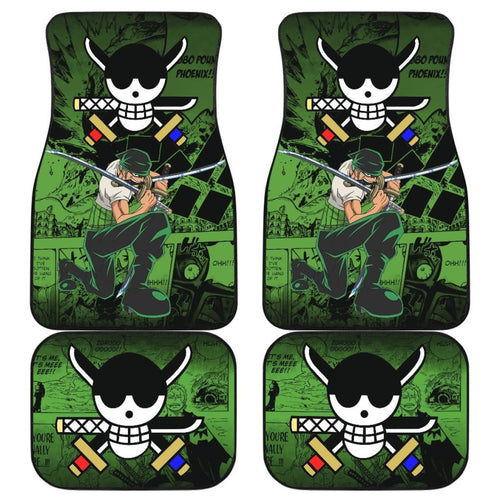Roronoa Zoro One Piece Car Floor Mats Manga Mixed Anime Cute Universal Fit 175802 - CarInspirations