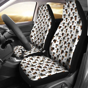Rottweiler Dogs Pets Car Seat Covers Universal Fit 051012 - CarInspirations