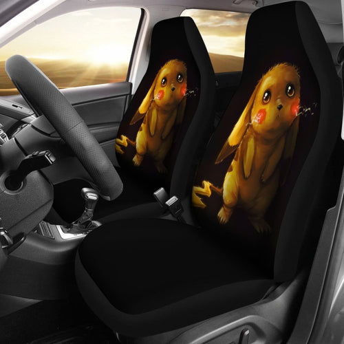 Sad Pikachu Pokemon Seat Covers Amazing Best Gift Ideas 2020 Universal Fit 090505 - CarInspirations