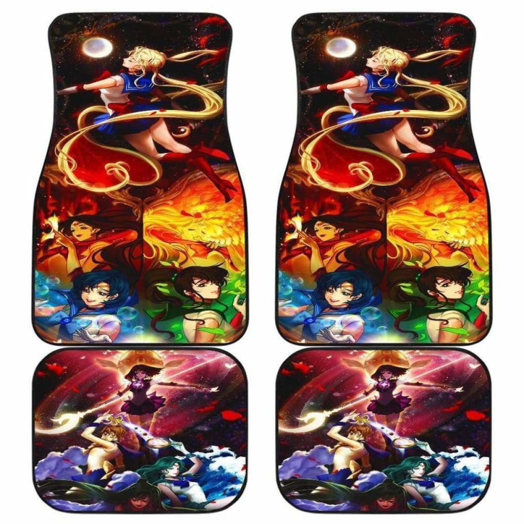 Sailor Moon Anime Japan Car Floor Mats Universal Fit 051012 - CarInspirations