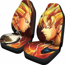 Load image into Gallery viewer, Saiyan Battle Goku Vegeta Dragon Ball Car Seat Covers (Set Of 2) Universal Fit 051012 - CarInspirations