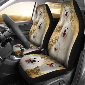 Samoyed Dogs Pets Animals Car Seat Covers Universal Fit 051012 - CarInspirations