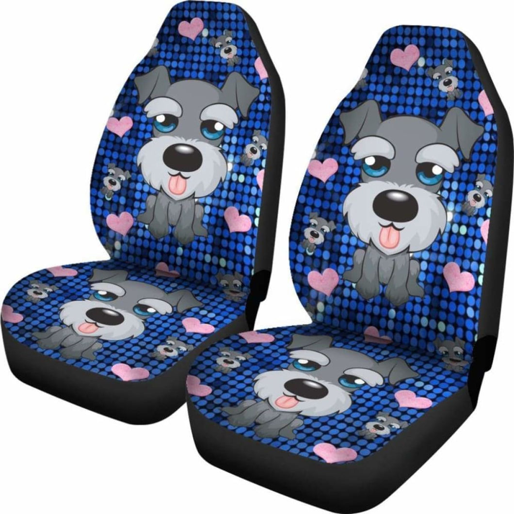 Schnauzer Car Seat Covers 100421 Universal Fit - CarInspirations