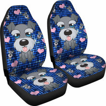 Load image into Gallery viewer, Schnauzer Car Seat Covers 100421 Universal Fit - CarInspirations