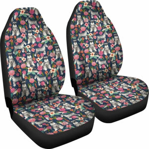 Schnauzer Patterns Art Car Seat Covers Universal Fit 051012 - CarInspirations