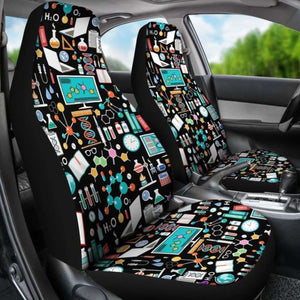 Science Pattern Car Seat Cover (Set Of 2) Universal Fit 051012 - CarInspirations