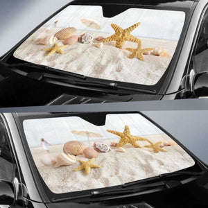 Sea Shells Car Sun Shades 1 918b Universal Fit - CarInspirations