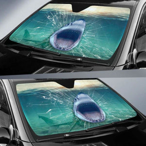 Shark 3d Car Sun Shades 918b Universal Fit - CarInspirations