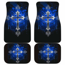 Load image into Gallery viewer, Silver Cross Blue Art Car Floor Mats Universal Fit 051012 - CarInspirations