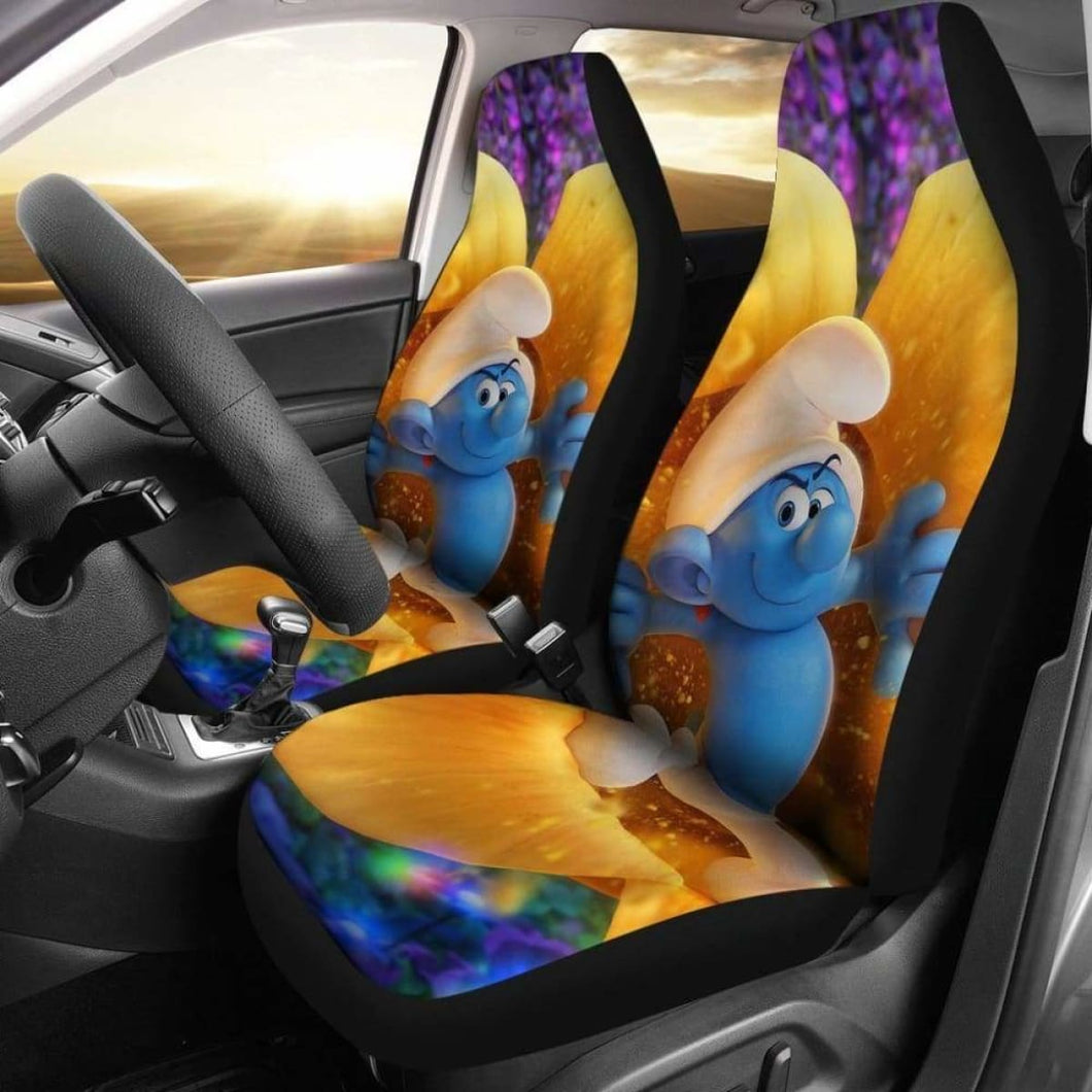 Smurf Funny Car Seat Covers Universal Fit 051012 - CarInspirations