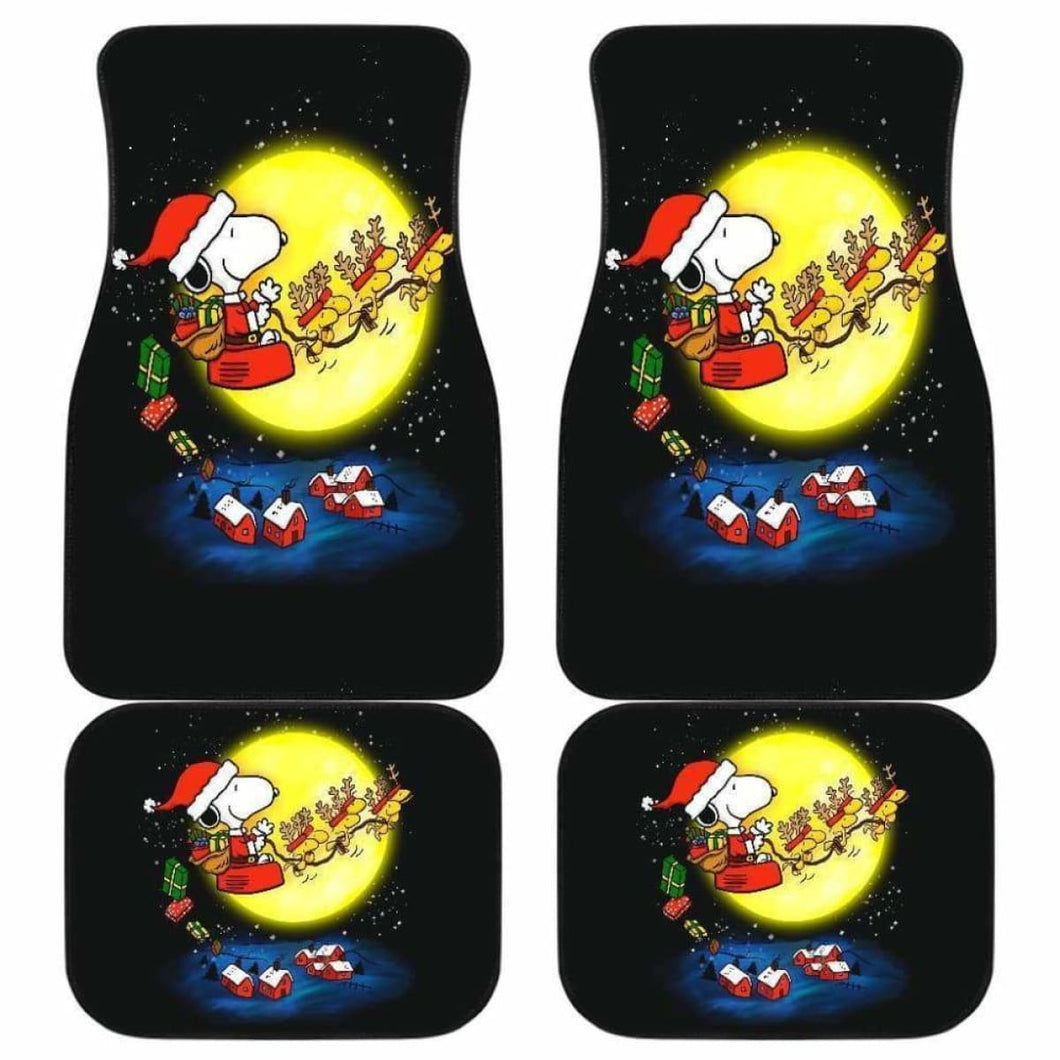 Snoopy Christmas Funny Cartoon Car Floor Mats Universal Fit 051012 - CarInspirations