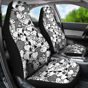 Snoopy Mini Pattern Cartoon Car Seat Covers (Set Of 2) Universal Fit 051012 - CarInspirations