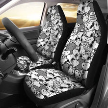 Load image into Gallery viewer, Snoopy Mini Pattern Cartoon Car Seat Covers (Set Of 2) Universal Fit 051012 - CarInspirations