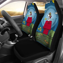 Load image into Gallery viewer, Snoopy The Flying Ace Cartoon Car Seat Covers (Set Of 2) Universal Fit 051012 - CarInspirations