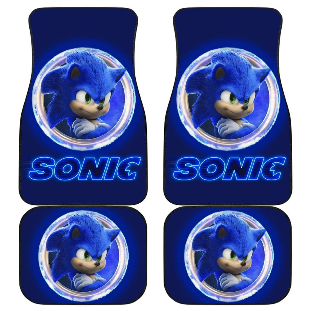 Sonic Car Floor Mats Sonic The Hedgehog Movie H040220 Universal Fit 225311 - CarInspirations