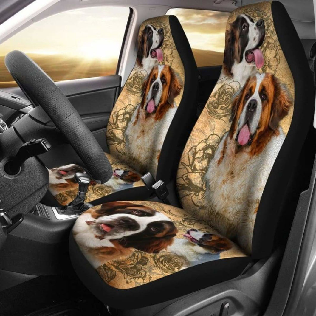 St. Bernard Dogs Pets Animals Car Seat Covers Universal Fit 051012 - CarInspirations