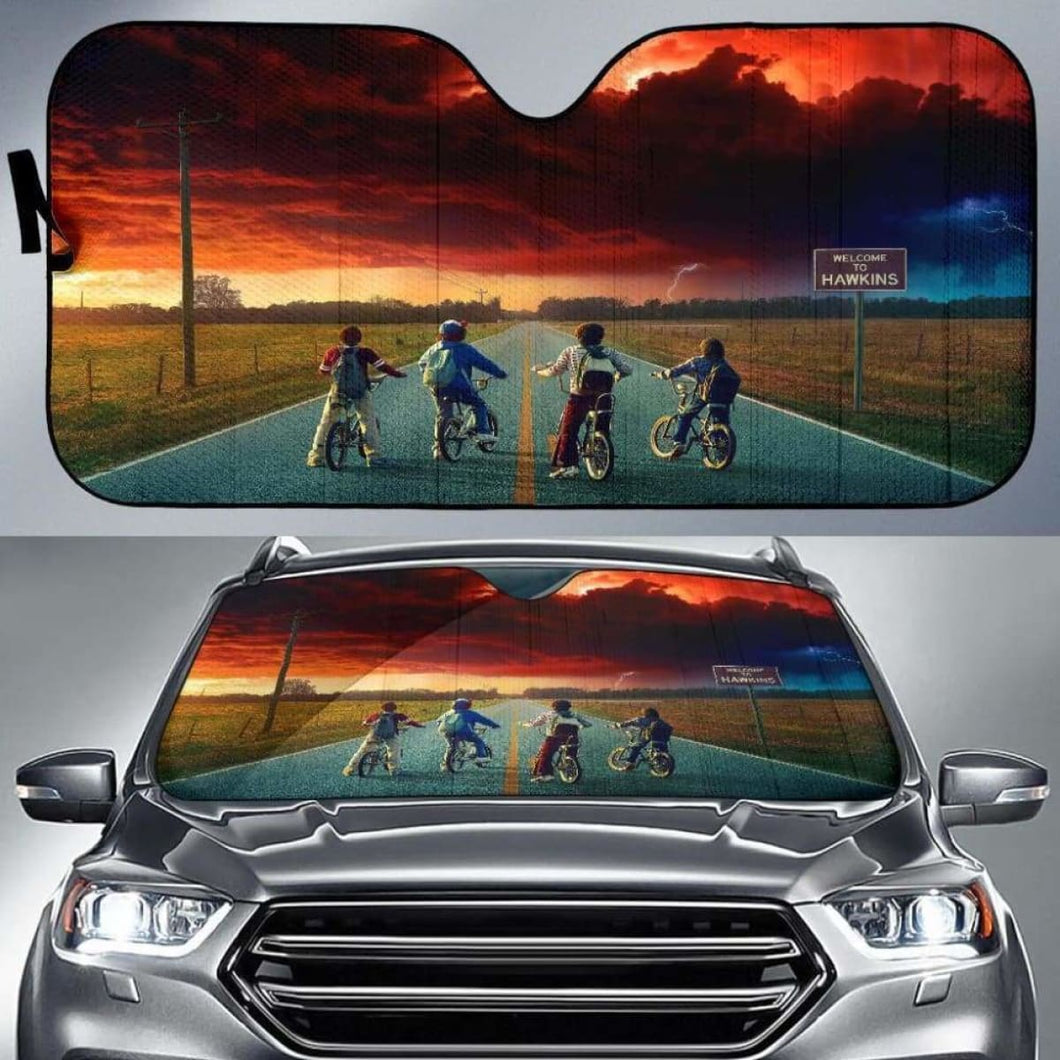 Stranger Things Car Sun Shades 918b Universal Fit - CarInspirations