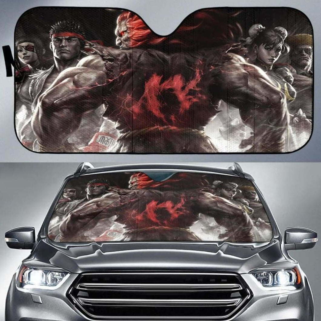 Street Fighter V Car Sun Shades 918b Universal Fit - CarInspirations