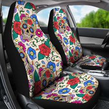 Load image into Gallery viewer, Sugar Skull Art Car Seat Covers Universal Fit 051012 - CarInspirations