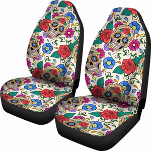 Sugar Skull Art Car Seat Covers Universal Fit 051012 - CarInspirations