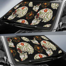 Load image into Gallery viewer, Sugar Skull Car Auto Sun Shade 211626 Universal Fit - CarInspirations