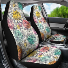 Load image into Gallery viewer, Sugar Skull Halloween Car Seat Covers 100421 Universal Fit - CarInspirations