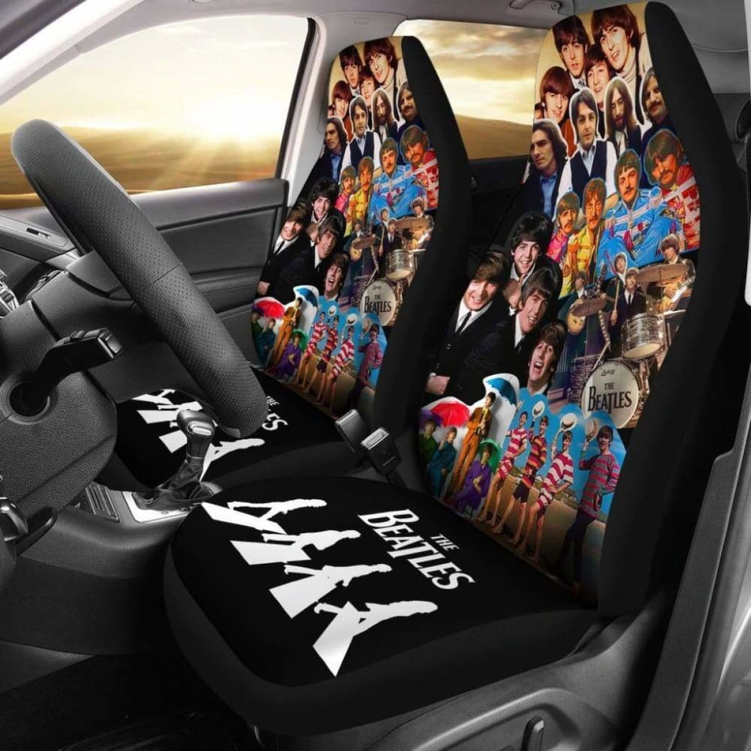 The Beatles Music Band Famous Car Seat Covers (Set Of 2) Universal Fit 051012 - CarInspirations
