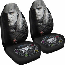Load image into Gallery viewer, The Witcher Henry Carvill Face Dark Car Seat Covers Universal Fit 051012 - CarInspirations