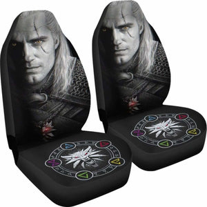 The Witcher Henry Carvill Face Dark Car Seat Covers Universal Fit 051012 - CarInspirations