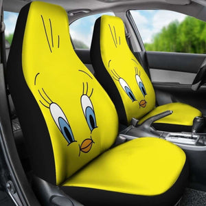 Tweety Bird Zoom 3D Cartoon Car Seat Covers Universal Fit 051012 - CarInspirations