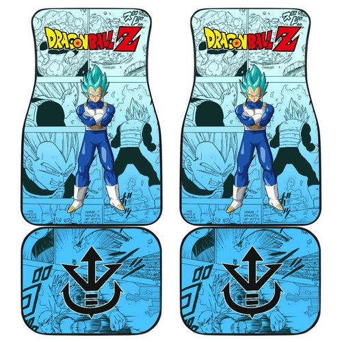 Vegeta Blue Characters Dragon Ball Z Car Floor Mats Manga Mixed Anime Universal Fit 175802 - CarInspirations