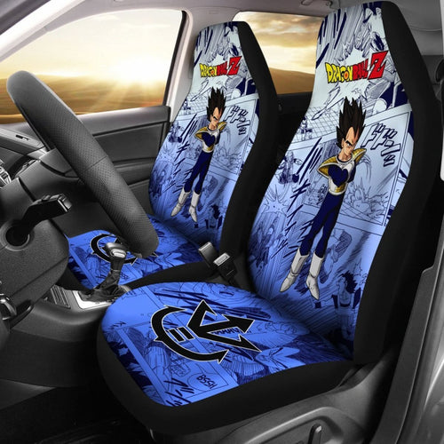 Vegeta Super Hero Dragon Ball Z Car Seat Covers Manga Mixed Anime Universal Fit 194801 - CarInspirations