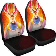 Load image into Gallery viewer, Vegeta Super Saiyan God Car Seat Covers Universal Fit 051012 - CarInspirations