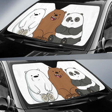 Load image into Gallery viewer, We Bare Bear Auto Sun Shades 918b Universal Fit - CarInspirations