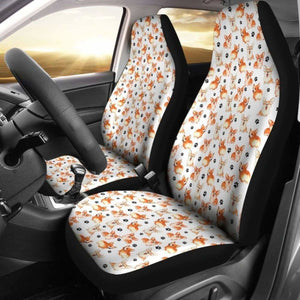 Welsh Corgi Tiny Patterns Car Seat Covers Universal Fit 051012 - CarInspirations