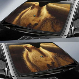 Werewolf Arctic Wolf Car Sun Shades 918b Universal Fit - CarInspirations