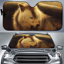Load image into Gallery viewer, Werewolf Arctic Wolf Car Sun Shades 918b Universal Fit - CarInspirations