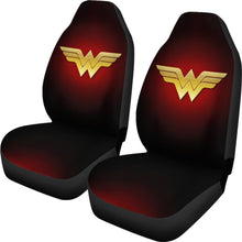 Load image into Gallery viewer, Wonder Woman Logo Car Seat Covers Movie Fan Gift H040120 Universal Fit 225311 - CarInspirations