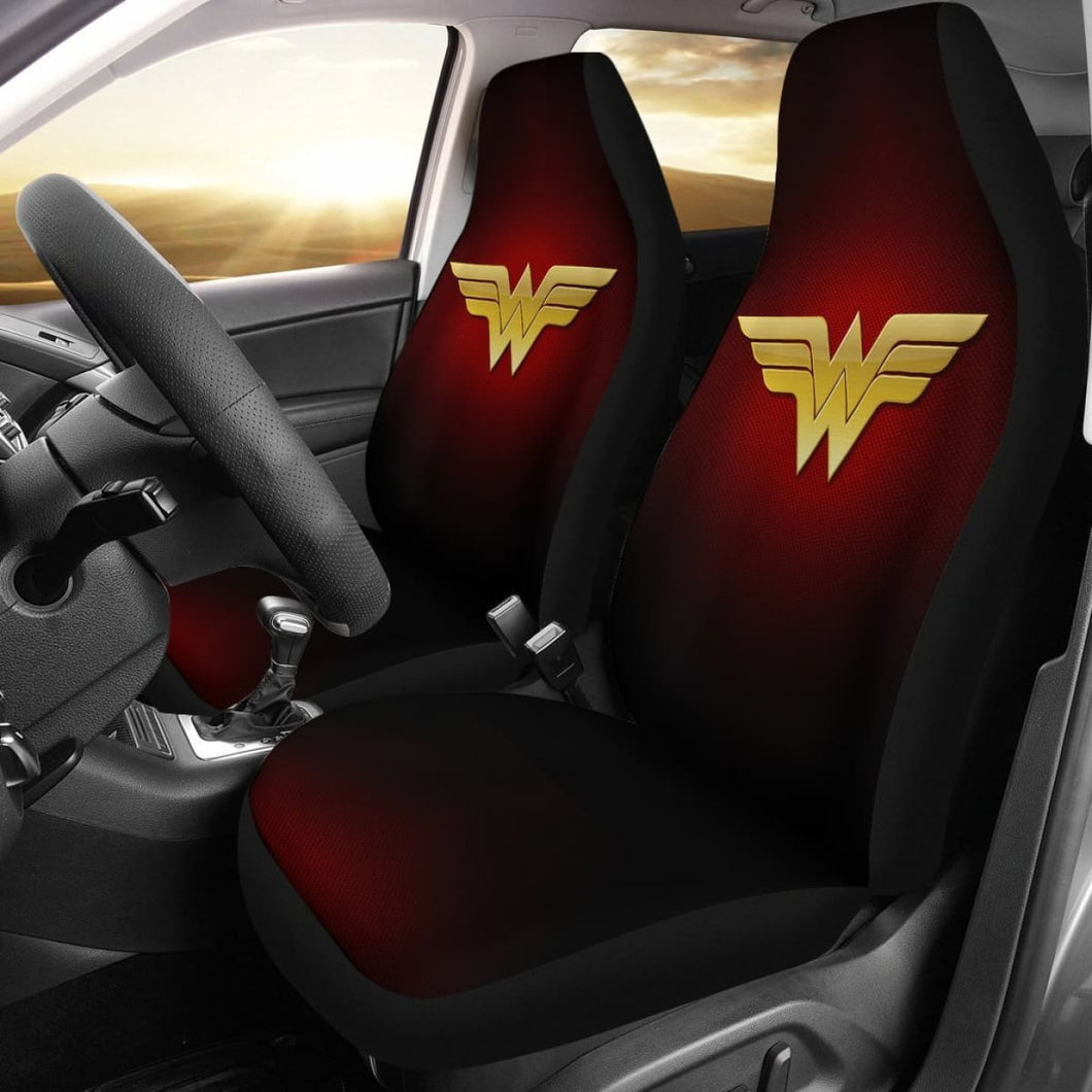 Wonder Woman Logo Car Seat Covers Movie Fan Gift H040120 Universal Fit 225311 - CarInspirations