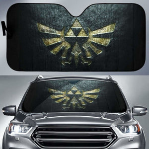 Zelda Logo in black theme car auto sunshades 918b Universal Fit - CarInspirations