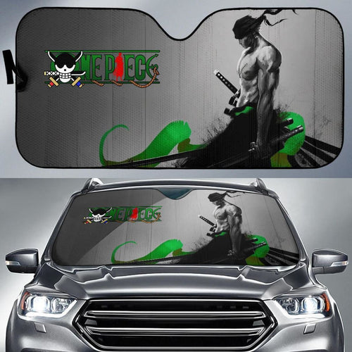 Zoro One Piece Auto Sun Shade Nh06 Universal Fit 111204 - CarInspirations